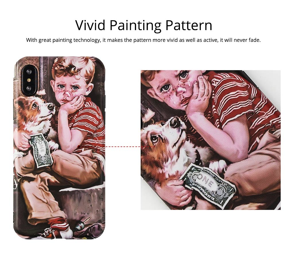 Artwork Phone Case, Soft TPU Phone Back Case, Anti-Scratch Anti-Finger Protective Cover for iPhone 6 6s, iPhone 6plus 6s plus, iPhone 7 8, iPhone X XS, iPhone XS Max, iPhone XR 1