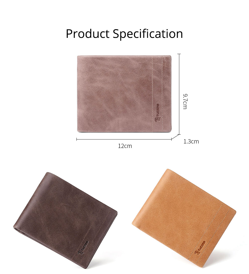 Cow Leather Minimalist Wallet for Men, Fashionable Cross Grain Wallet, Bifold Slim Wallets for Trip Travel Daily Use 6
