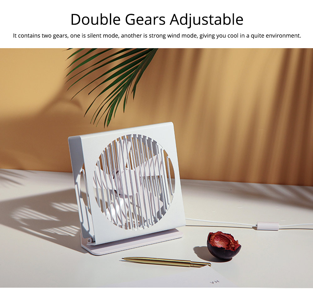 USB Rechargeable Desk Mini Fan with 90 Degrees Rotation, Strong Motion Compact Fan for Dorm Office Home 7 inches  3