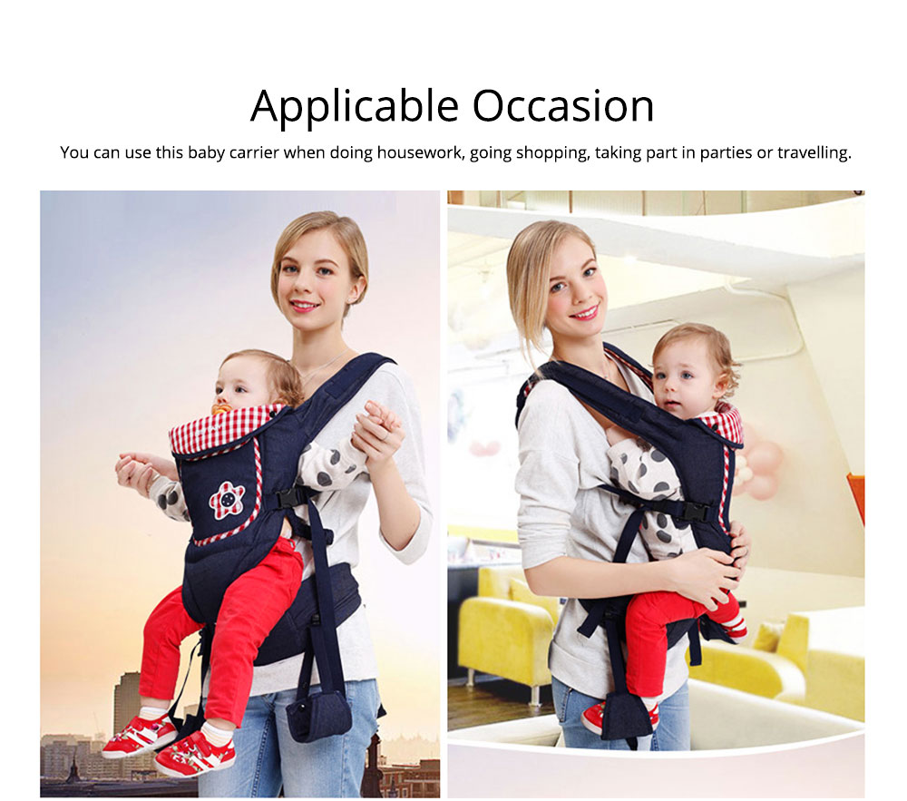Portable Baby Waist Belt, Multifunctional Baby Carrier with Comfortable Back Pad Baby Carrying Strap 5
