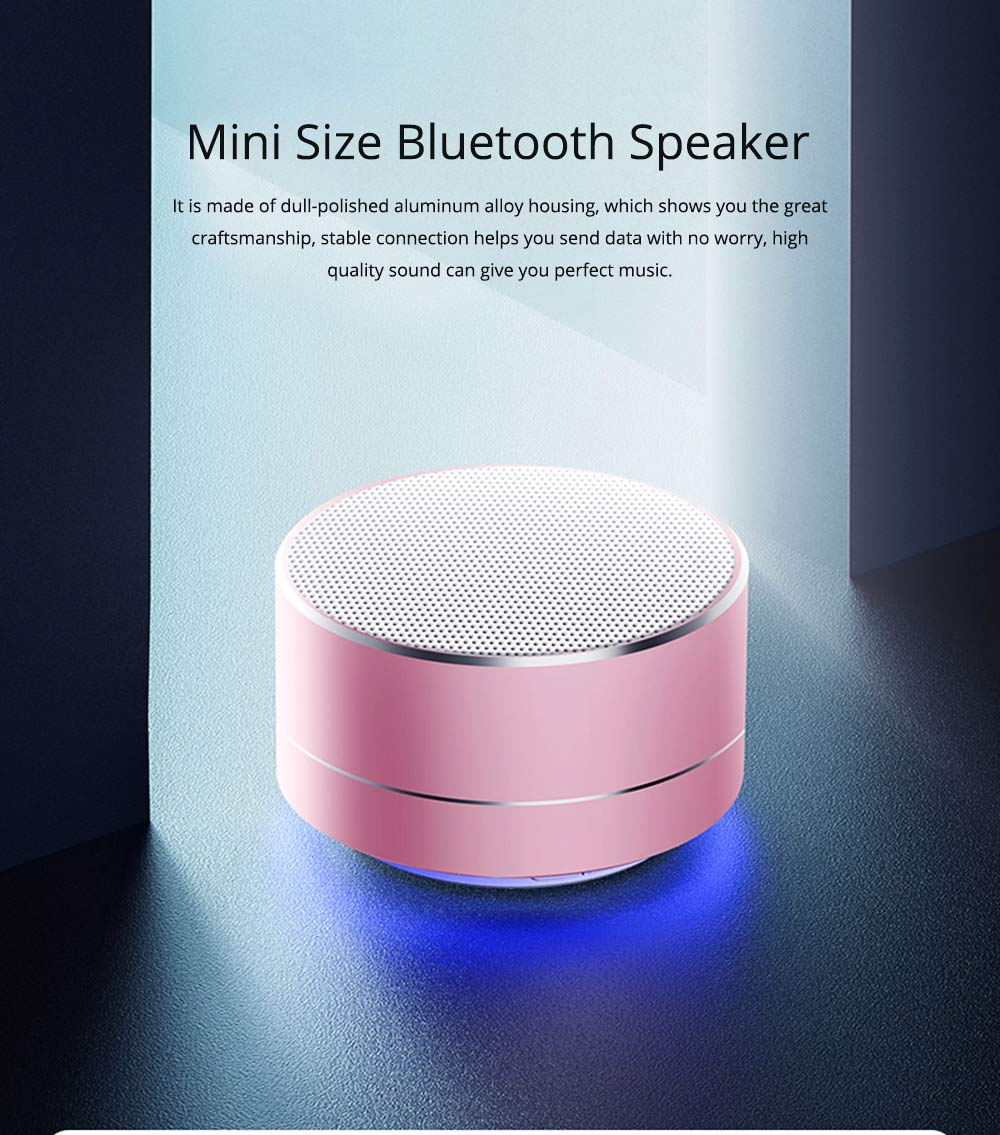 Brass Wireless Subwoofer with Mini Size, Bluetooth Speaker with Stable Connection and Breathable Light Car Speaker  0
