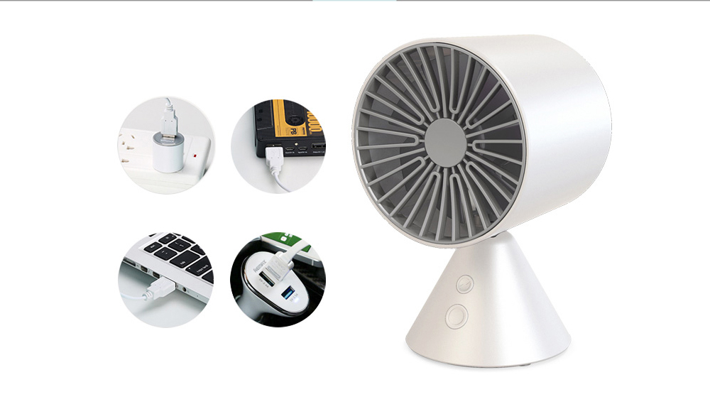 Rechargeable Battery USB Fan, Strong Wind Quiet Fan, Small Desk Fan for Home Office Travel Camping 3