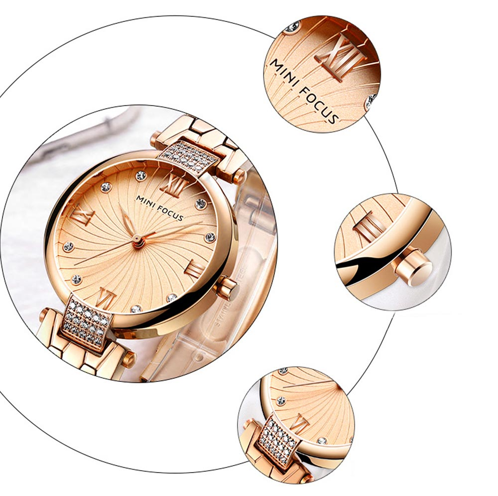 Elegant Women's Watch Stainless Steel Fashion Analog Quartz Watch 2019 Waterproof Wristwatch 2