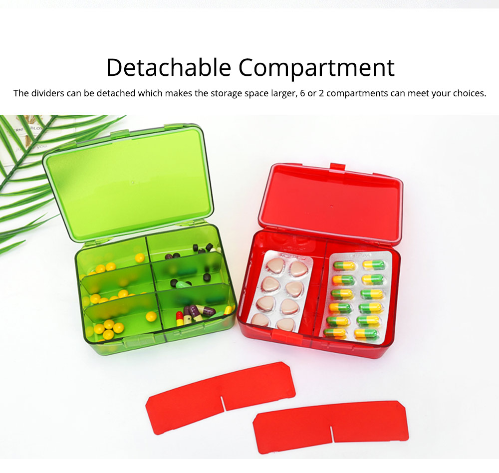 High Capacity Pill Box with Multiple Compartments, PP Safe Pill Case Accessories Organizer for Patient, Kids, Elderly Pill Box 2