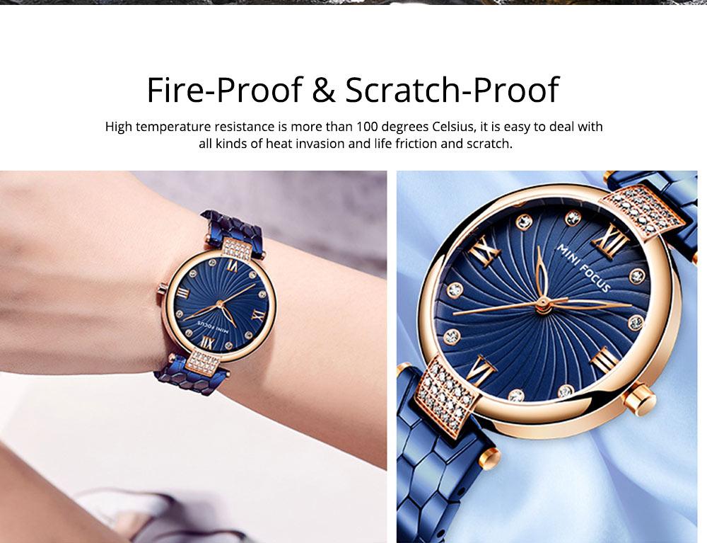 Elegant Women's Watch Stainless Steel Fashion Analog Quartz Watch 2019 Waterproof Wristwatch 4