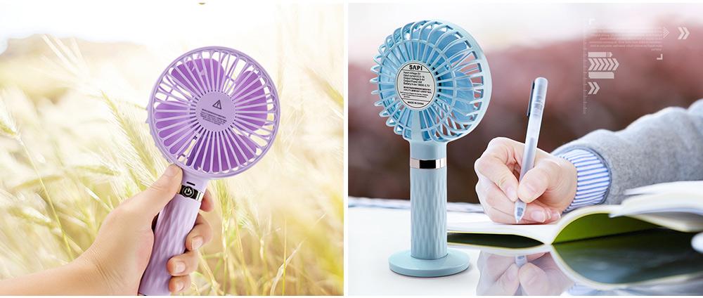 Rechargeable Portable Fan, Personal Handheld Fan for Office, Home, Travel, Small USB Desk Fan  6