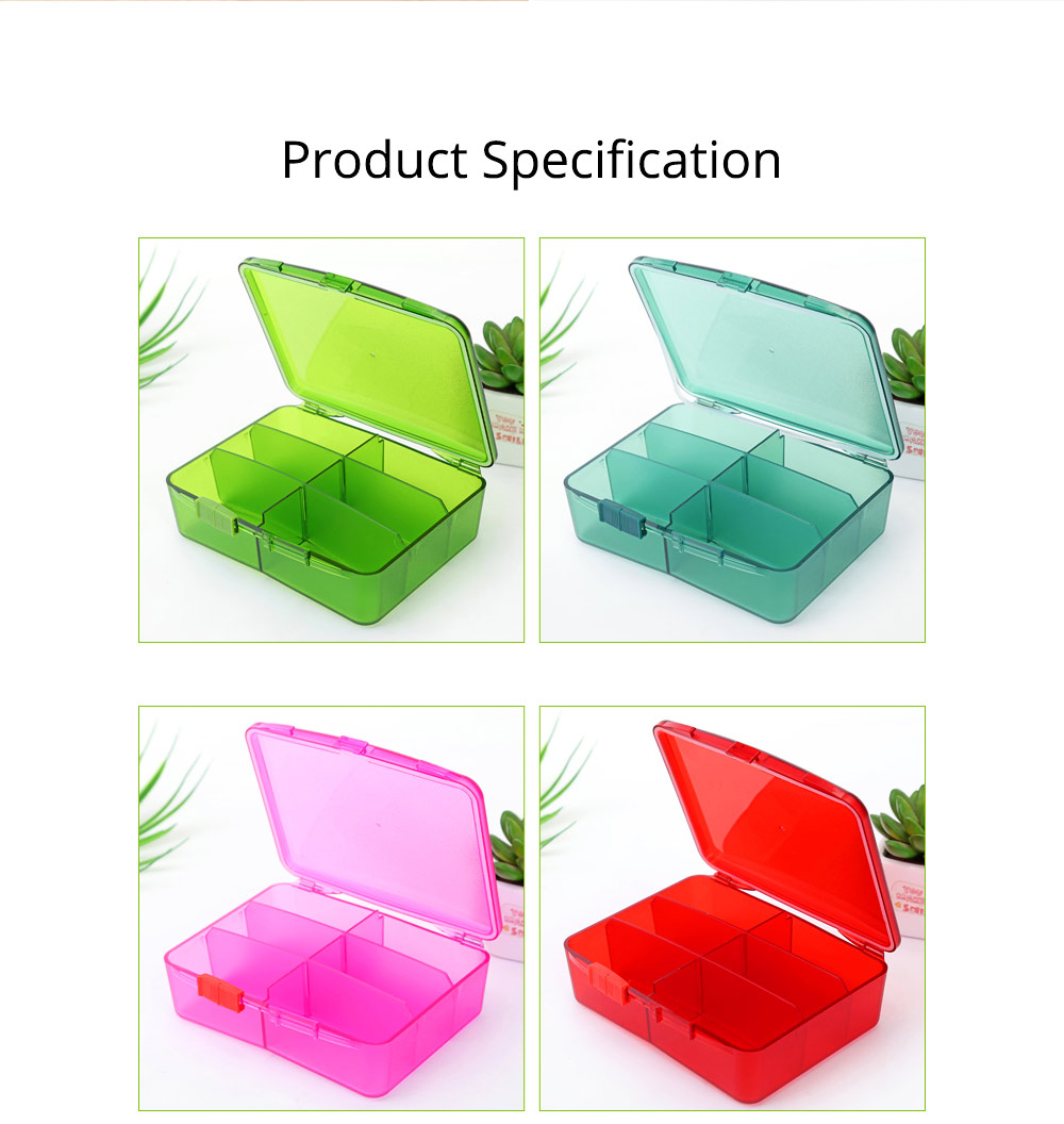 High Capacity Pill Box with Multiple Compartments, PP Safe Pill Case Accessories Organizer for Patient, Kids, Elderly Pill Box 8