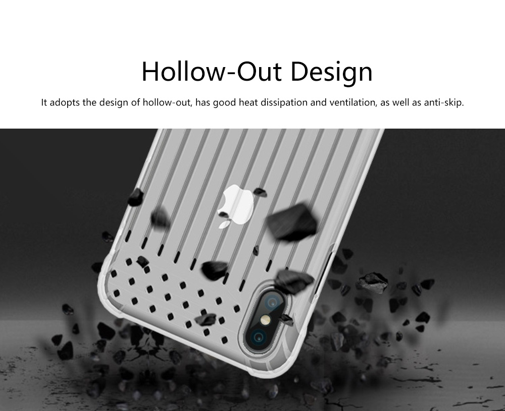 Stripe Phone Protective Case, Anti-fall Back Cover Anti-Scratch Shell for iPhone X, XS with Venting Holes 1