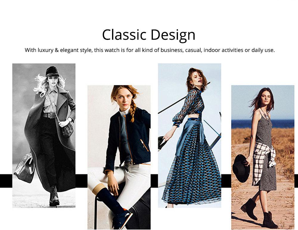 Elegant Women's Watch Stainless Steel Fashion Analog Quartz Watch 2019 Waterproof Wristwatch 7