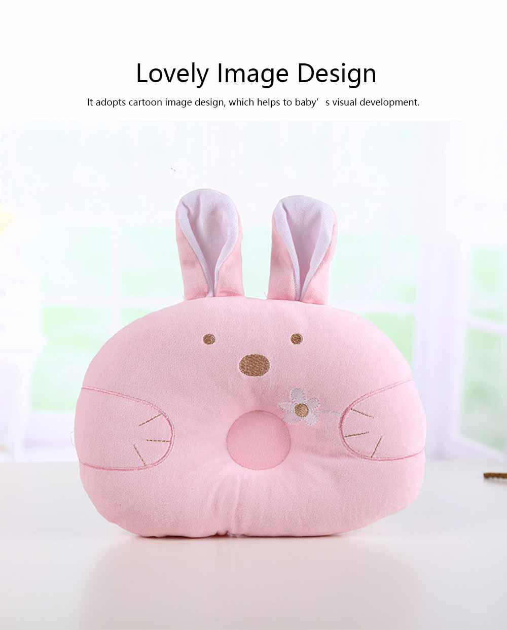 Soft Baby Pillow Anti-headrest, Comfortable Pillow for 0-12 Months Baby, Breathable Baby Pillow, Baby Cotton Pillow, Candy Rabbit Pillow 4