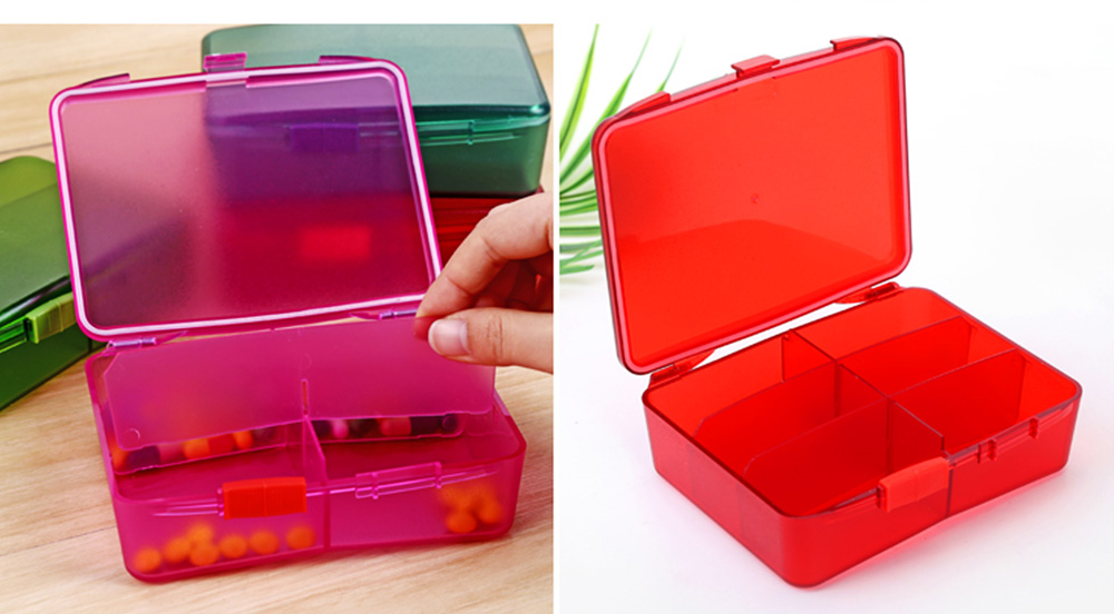 High Capacity Pill Box with Multiple Compartments, PP Safe Pill Case Accessories Organizer for Patient, Kids, Elderly Pill Box 7