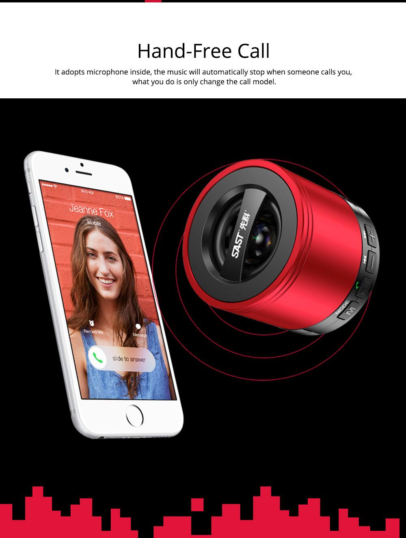 Wireless Mini Bluetooth Speaker, Brass Large Volume Speaker with Hand-Free Call Portable Speaker 6