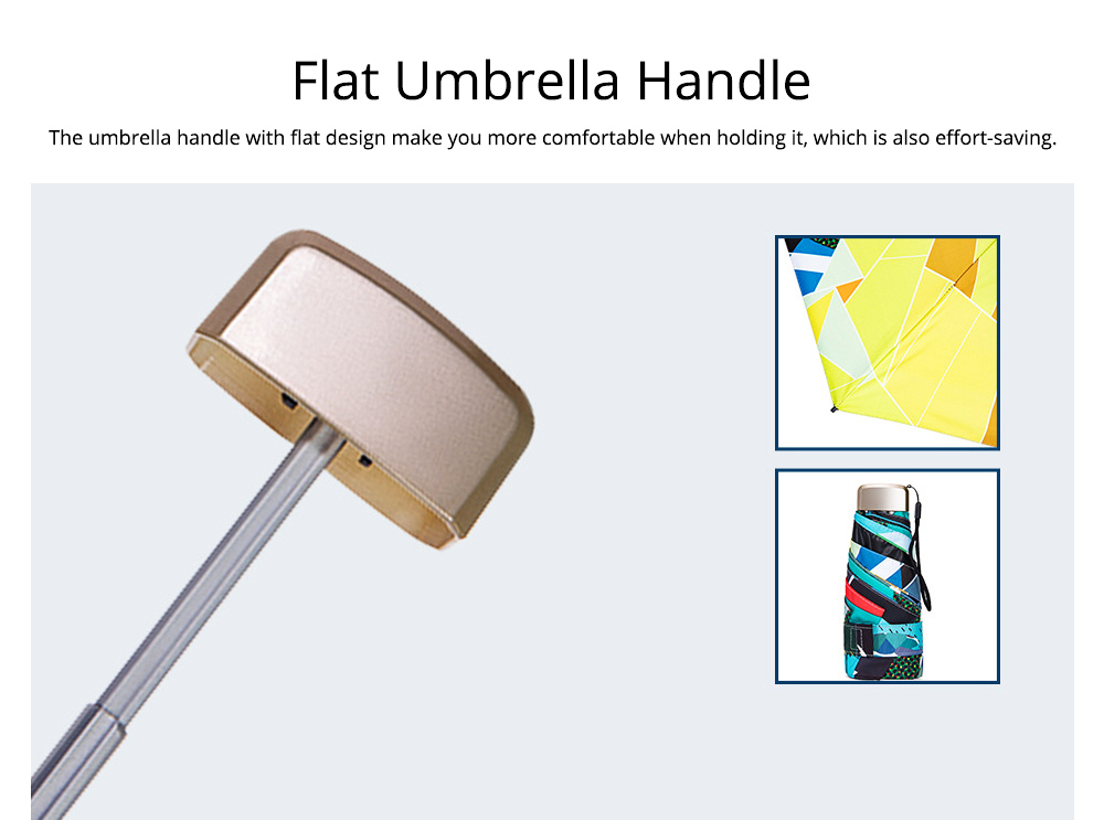 Collapsible Mini Flat Umbrella with High-Tech Layer Pattern Stylish Sun Rain Umbrella for Travel, Outdoors 2
