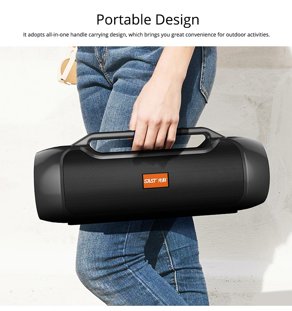 Bluetooth Speaker for Rapper, Dancer, Singer, Portable Brass with High Quality Sound Speaker, Double Horn Large Battery Speaker 2