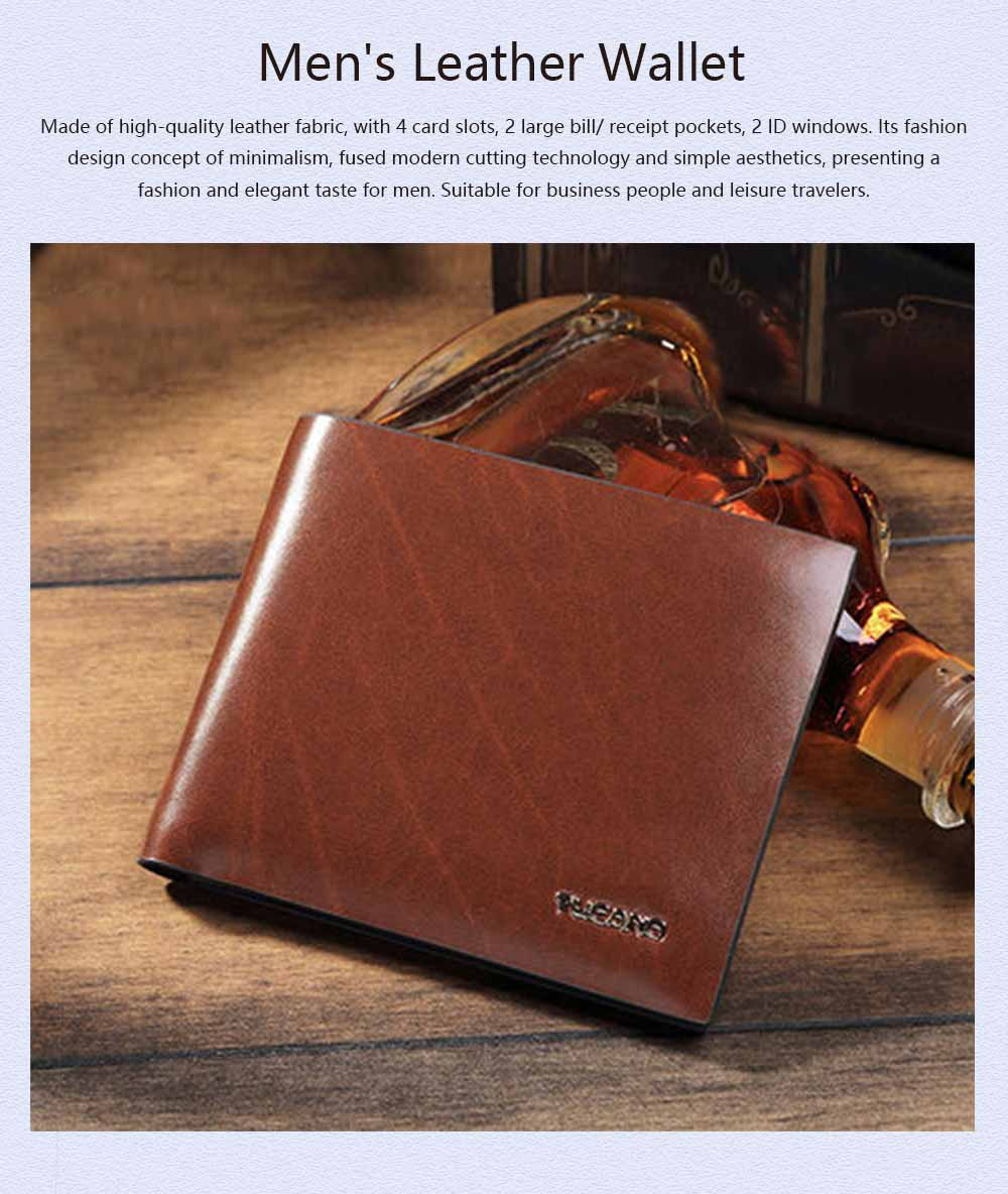 High-End Business Men Wallet, Men's Leather Business Clutch Wrist Bags, Handbag Organizer Card Cash Holder 0