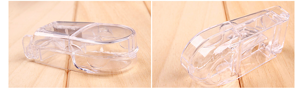 Pill Cutter with Ergonomic Design Transparent Pill Splitter with Stainless Steel for Accurate Cutting 2
