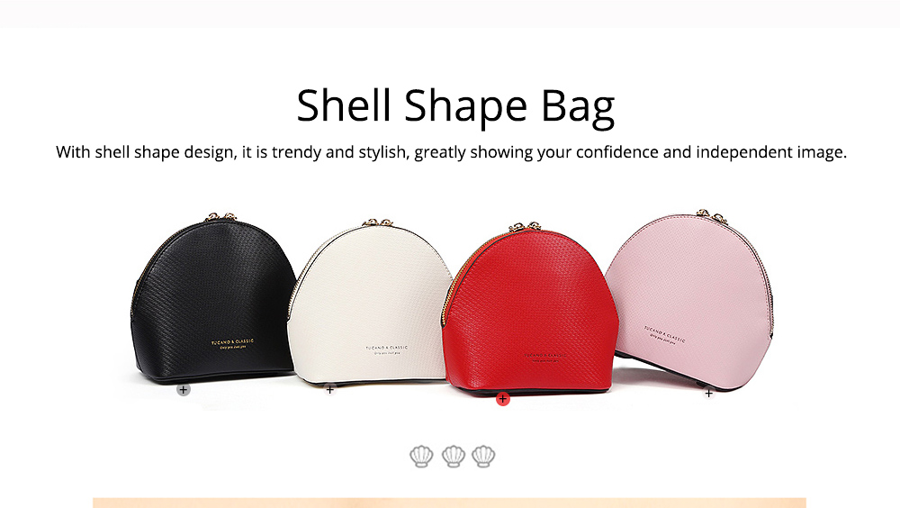 Shell Shape Shoulder Bag, Trendy Simple Style Women Crossbody Bag with Shoulder Chain 2019 New 1