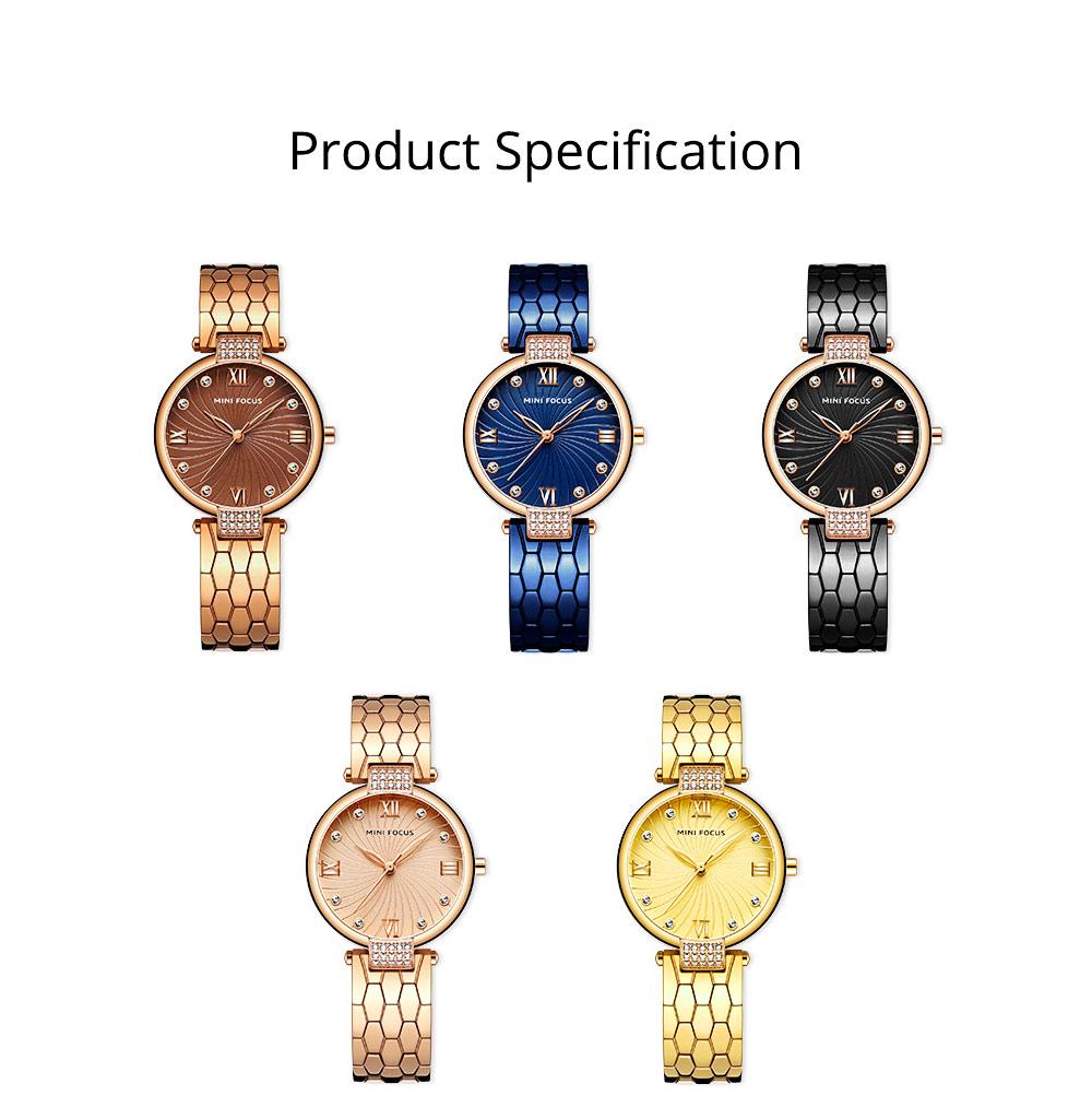 Elegant Women's Watch Stainless Steel Fashion Analog Quartz Watch 2019 Waterproof Wristwatch 10