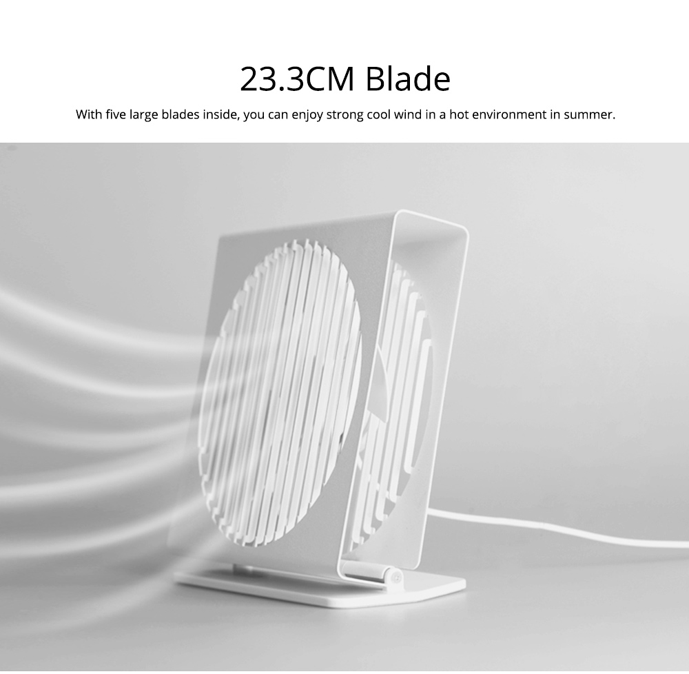 USB Rechargeable Desk Mini Fan with 90 Degrees Rotation, Strong Motion Compact Fan for Dorm Office Home 7 inches  7