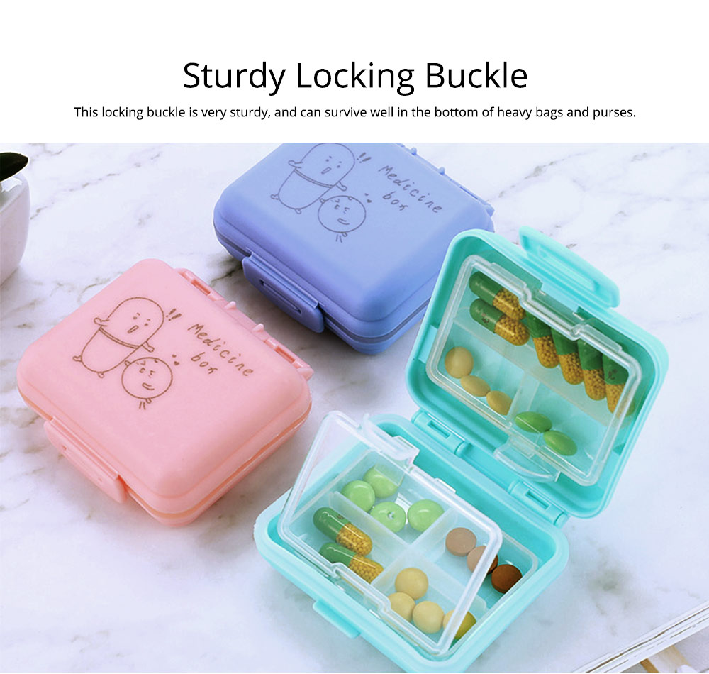 Cute Pill Box Portable 7 Compartments Medicine, Vitamin Plastic Pill Organizer BPA Free for Kids, Elderly 6