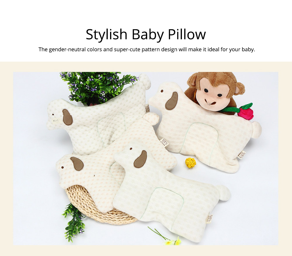 Newborn Baby Pillow, Breathable Organic Cotton Protection Pillow Prevent Flat Head Syndrome Baby Pillow 6