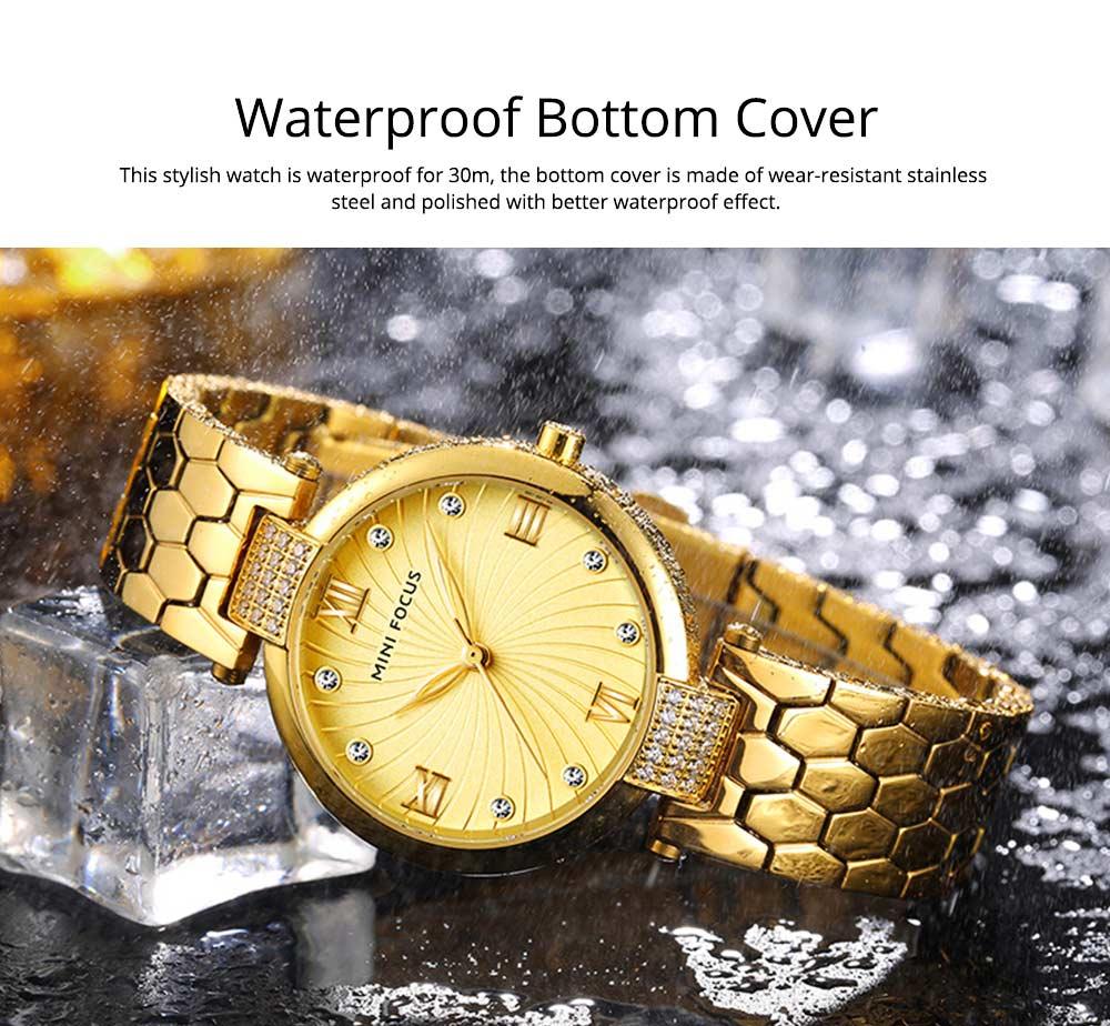 Elegant Women's Watch Stainless Steel Fashion Analog Quartz Watch 2019 Waterproof Wristwatch 3