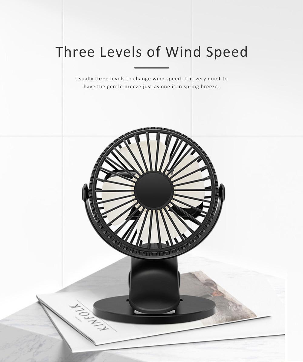 Vehicle-mounted Mini Fan,  Mini Fan USB with Durable Clip Cool Mini Fan for Summer Home, Car, Office 1