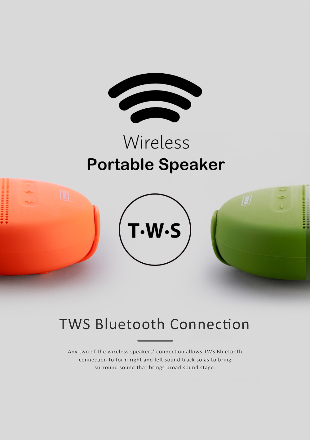 Wireless Portable Speaker SP150 for Outdoor Use, New Style Wireless Silicone Loudspeaker Waterproof Bluetooth Loudspeaker Box Portable Speaker 2