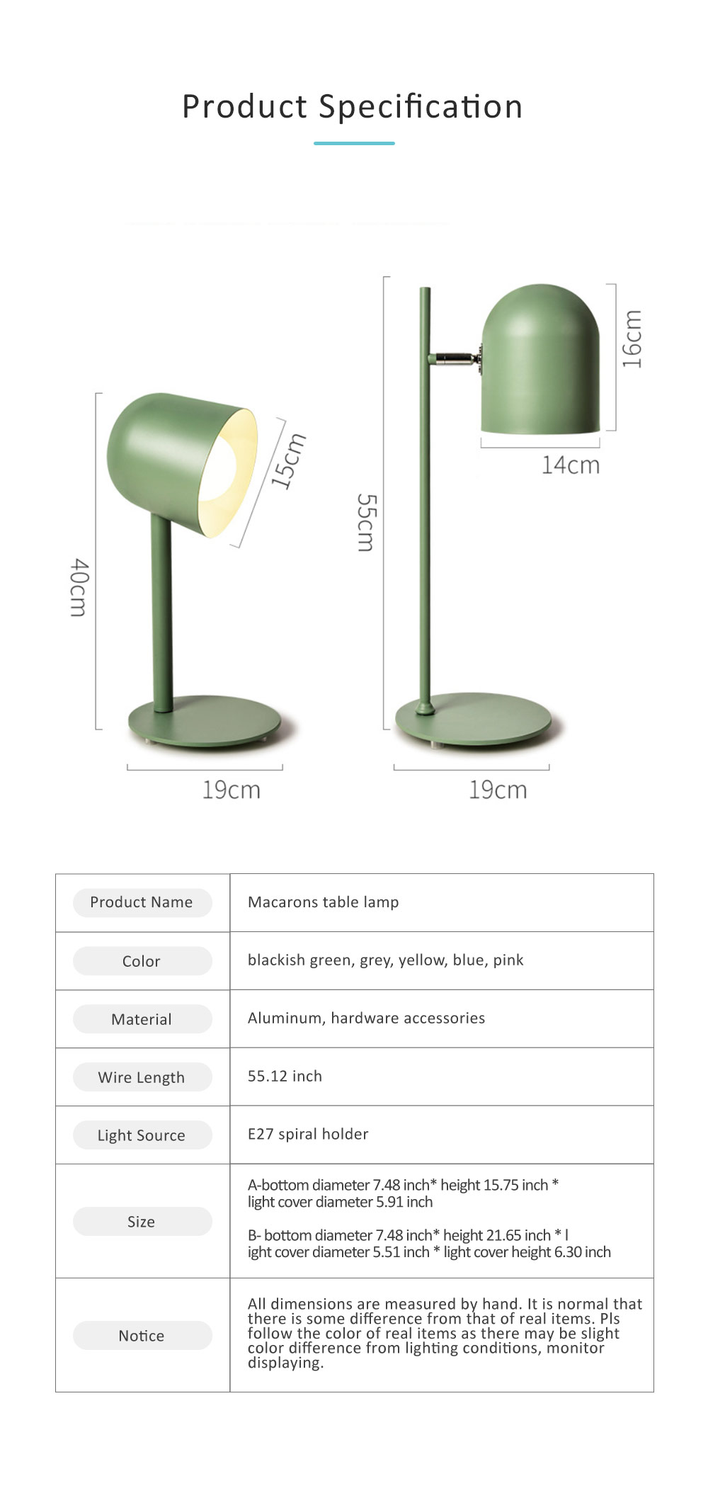 LED Table Lamp for Living Room, Nordic Style Table Lamp for Bedroom Office Eye Protection LED Table Light 8