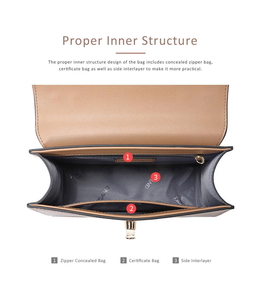 TUCANO New Style Handbag for Women, Fashionable Square Messenger Bag for Women Single-shoulder Bag 4