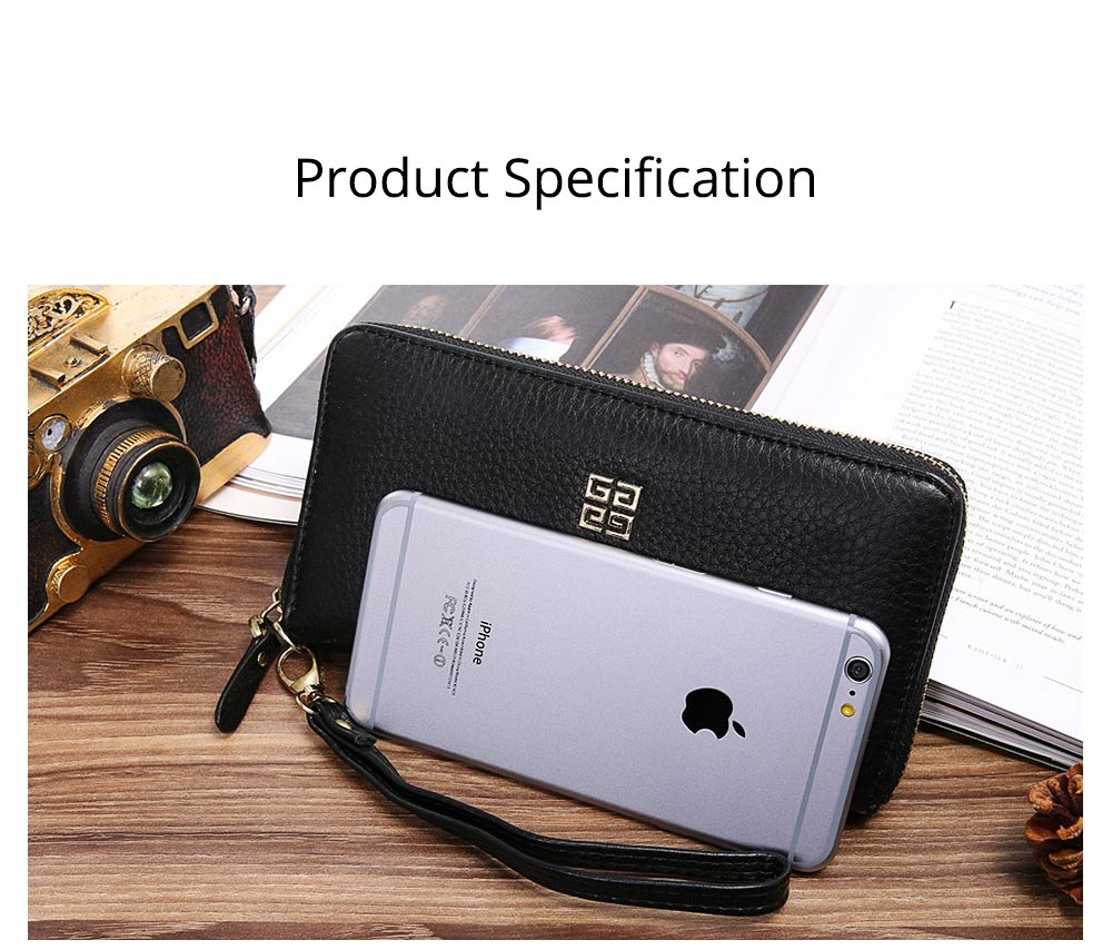 PU Leather Wallet for Men Youth, Soft Leather Casual Simple Europe Style Clutch with Zipper, ID Card Holder, Long Clutch Handbag 9
