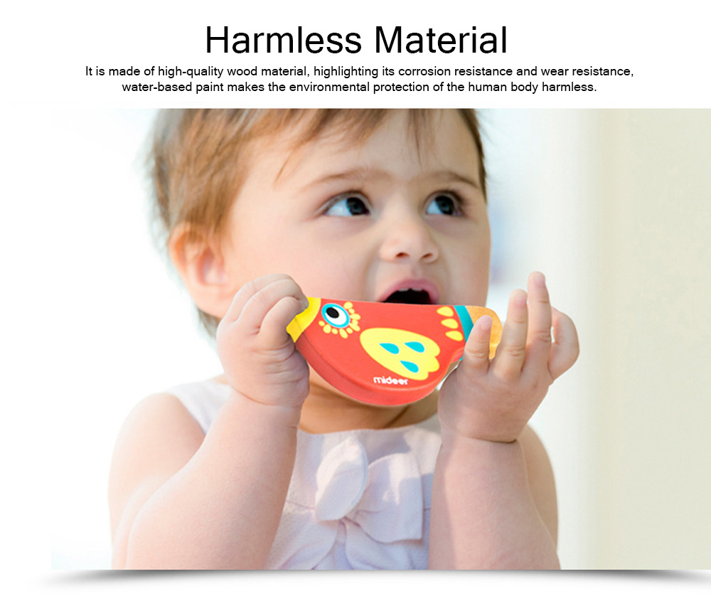 Wood Bird Shape Whistle with Colorful Healthy Paint, Play Toys for Children More than 2 Years, Smooth Corners Educational Toy 1
