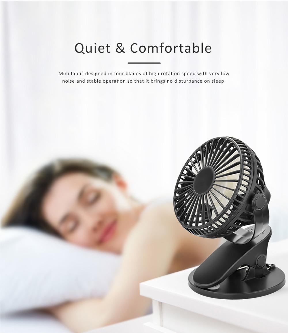 Vehicle-mounted Mini Fan,  Mini Fan USB with Durable Clip Cool Mini Fan for Summer Home, Car, Office 3