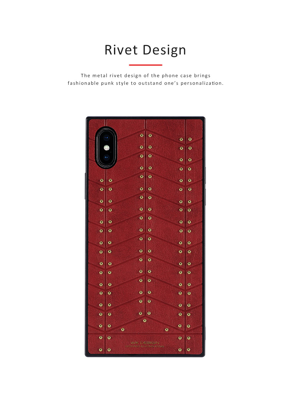 Leather Mobile Phone Case, Revits-decorated Phone Cover for Apple iPhone X Business Men Essential Phone Case 3