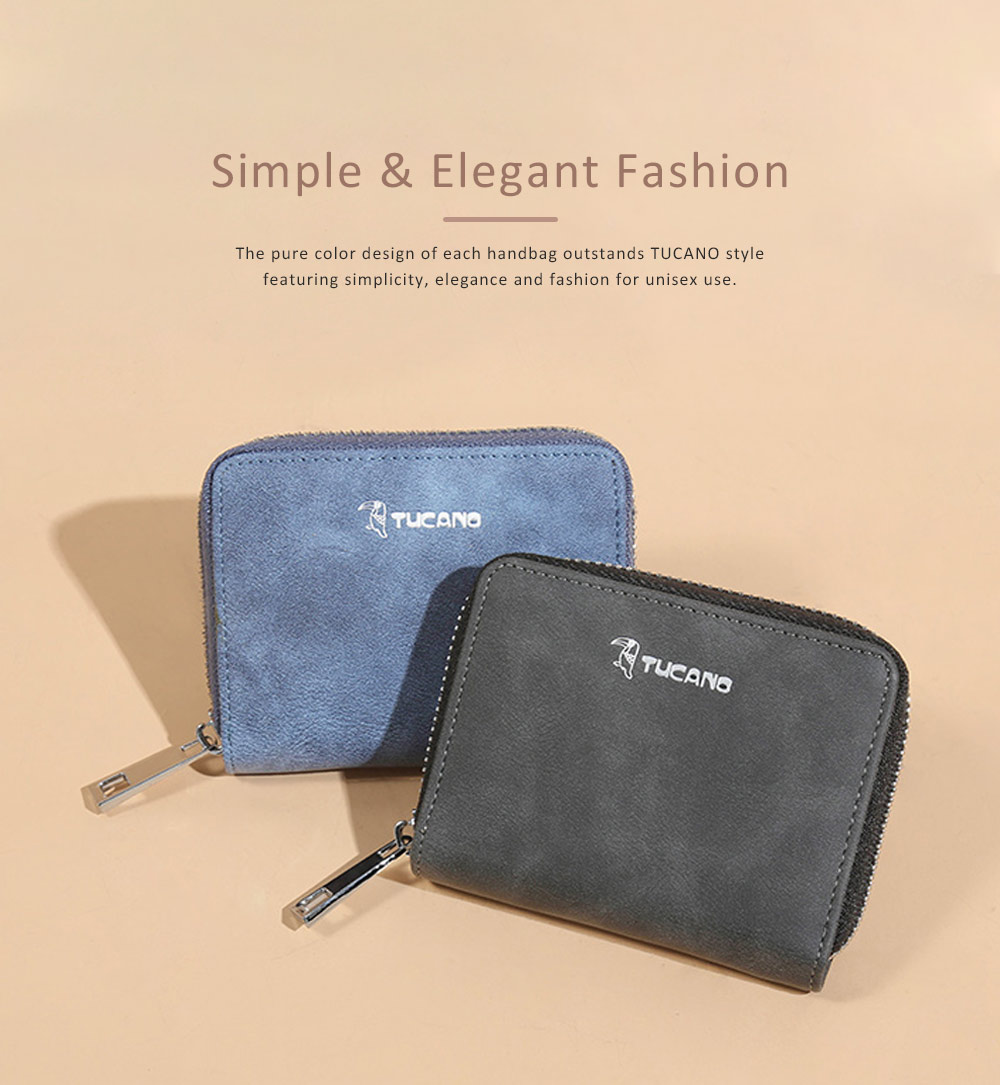 Mini PU Leather Purse, Short Purse with Zipper, Card Slots, Multifunctional Purse for Coins, Cash, Credit Cards 1