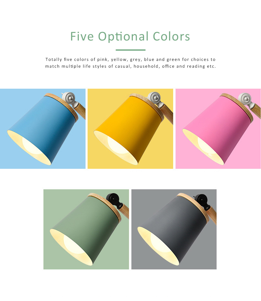 Nordic Style Desk Lamp, Macaron Desk LED Night Light with USB Charging Port, Office Essential Eye Protection LED Light 4