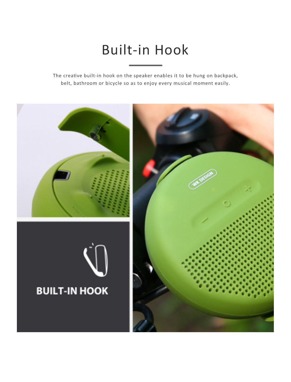 Wireless Portable Speaker SP150 for Outdoor Use, New Style Wireless Silicone Loudspeaker Waterproof Bluetooth Loudspeaker Box Portable Speaker 3