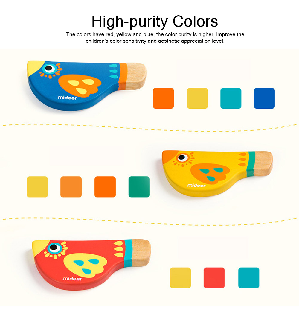Wood Bird Shape Whistle with Colorful Healthy Paint, Play Toys for Children More than 2 Years, Smooth Corners Educational Toy 4