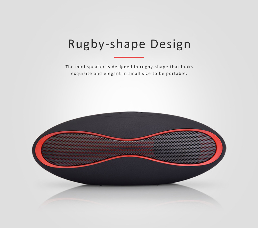 Mini Rugby-shape Bluetooth Speaker, 3D Sound Quality Speakers for Laptop, Tablets, Phones Bluetooth Wireless Speaker 3