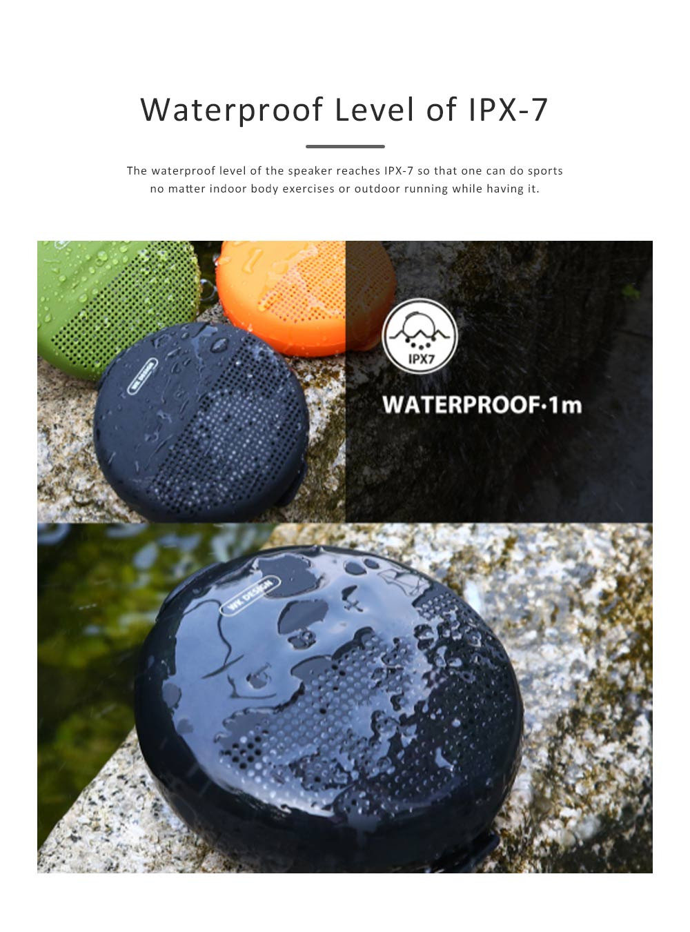 Wireless Portable Speaker SP150 for Outdoor Use, New Style Wireless Silicone Loudspeaker Waterproof Bluetooth Loudspeaker Box Portable Speaker 5