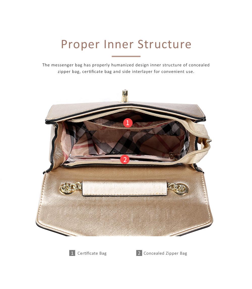 TUCANO Chain Bag for Women, Fashionable Square Messenger Bag for Women Spring Summer, Single-shoulder Bag 3