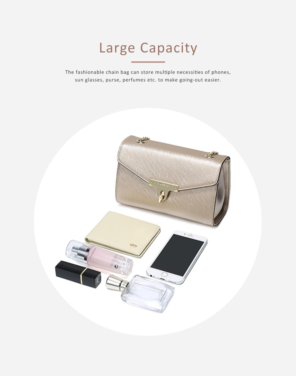 TUCANO Chain Bag for Women, Fashionable Square Messenger Bag for Women Spring Summer, Single-shoulder Bag 2
