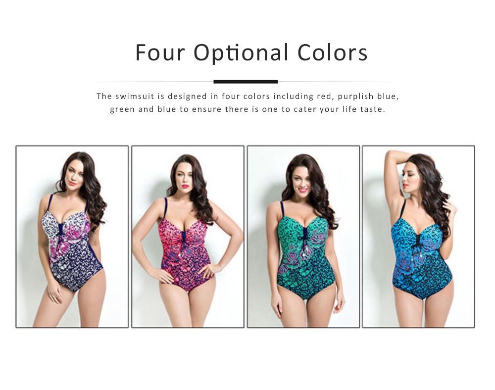 Sexy Bikini  for Women, One-piece Swimwear with Floral Pattern, 2019 Western Style Swimsuit 5