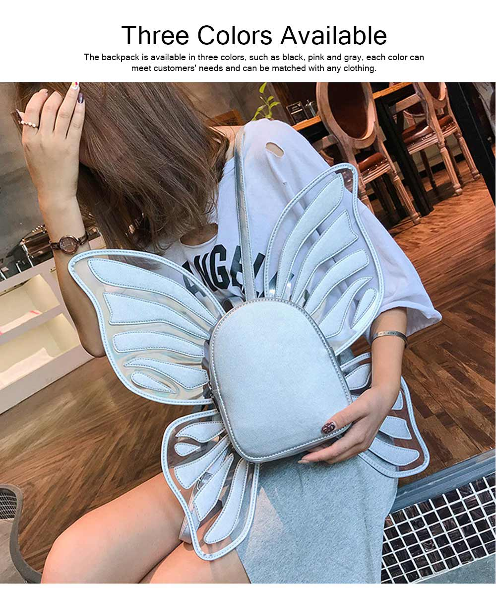 Angles Wings Women Backpack PU Material Knapsack Butterfly Shape Pack-sack for Women 2