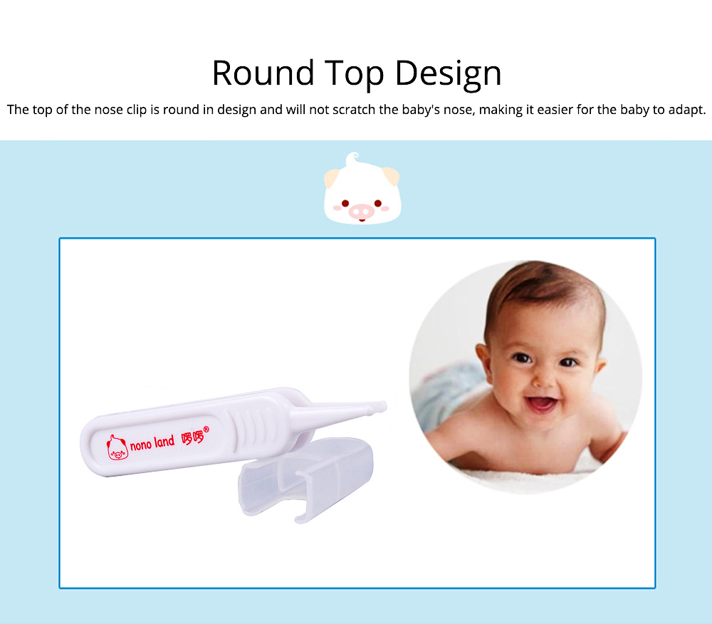Baby Nose Cleaning Clip PP Safety Practical Tweezers for Newborn Sanitary Booger Remover Nose Cleaner Tool 3