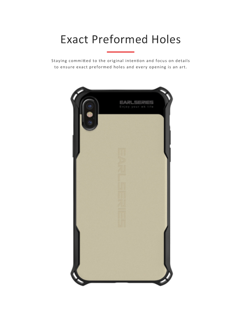 Smart Phone Protective Case for iPhone X, iPhone7, iPhone 8, Simple Style Phone Shell Cover, Anti-impact Anti-scratch Phone Case 4