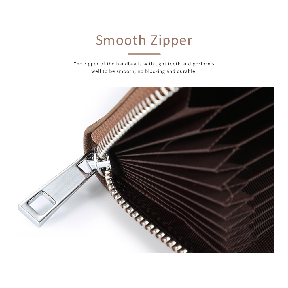 Mini PU Leather Purse, Short Purse with Zipper, Card Slots, Multifunctional Purse for Coins, Cash, Credit Cards 6
