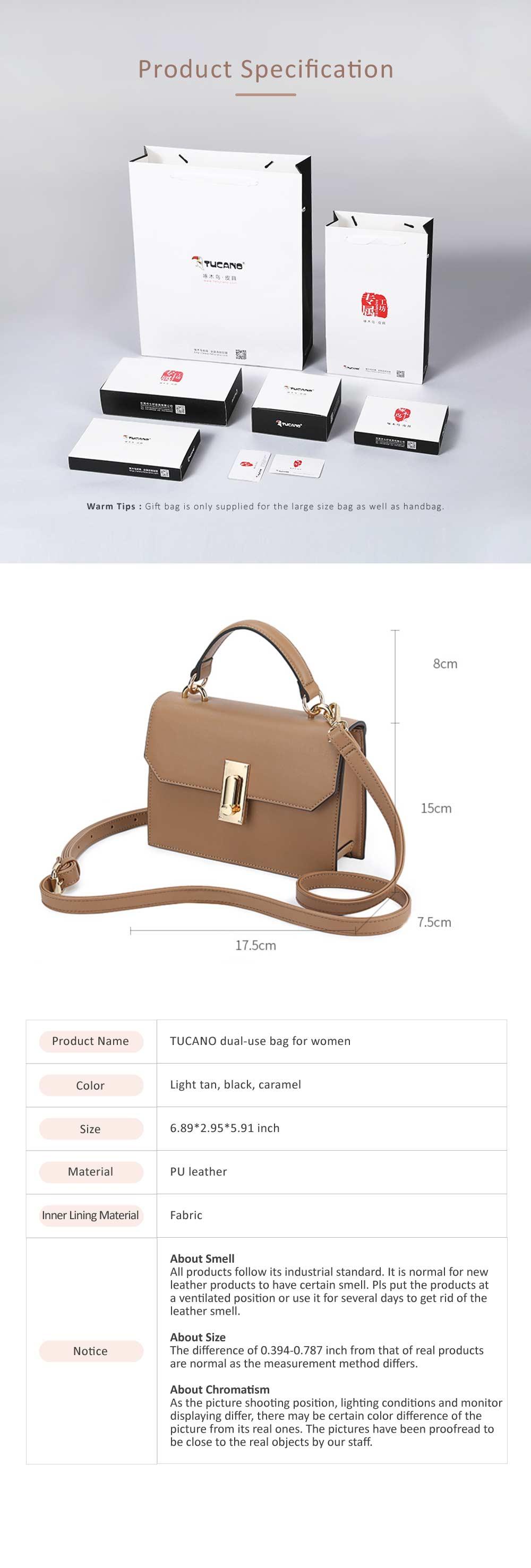 TUCANO New Style Handbag for Women, Fashionable Square Messenger Bag for Women Single-shoulder Bag 10
