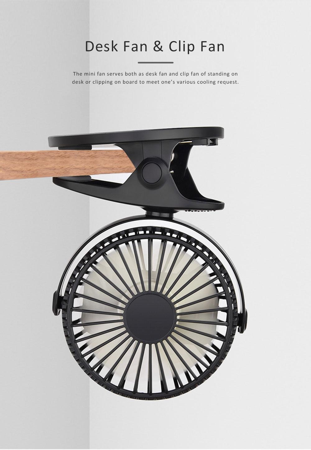 Vehicle-mounted Mini Fan,  Mini Fan USB with Durable Clip Cool Mini Fan for Summer Home, Car, Office 4