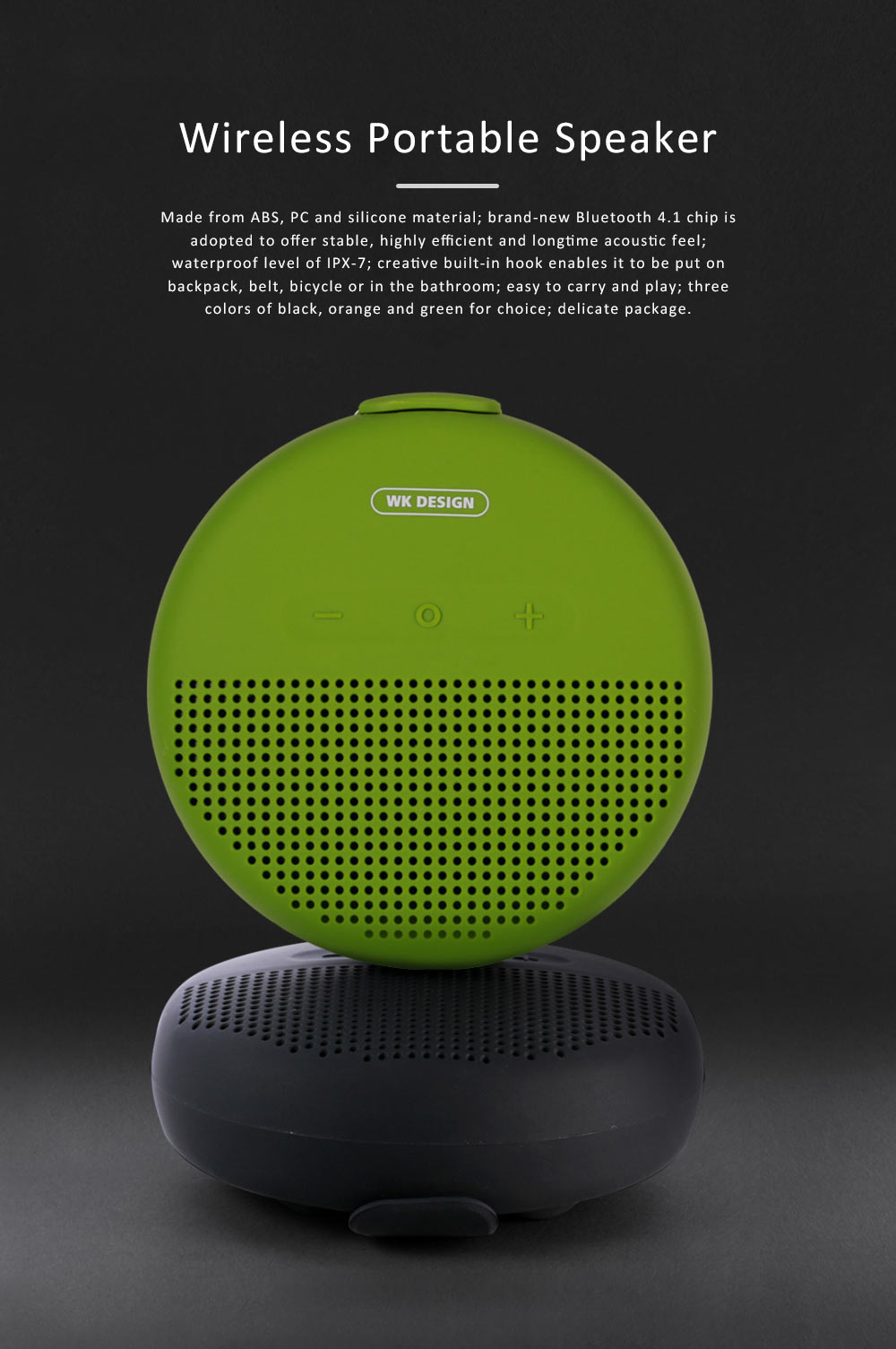 Wireless Portable Speaker SP150 for Outdoor Use, New Style Wireless Silicone Loudspeaker Waterproof Bluetooth Loudspeaker Box Portable Speaker 0